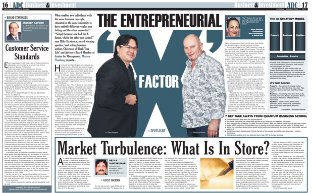 The Entrepreneurial 'X' Factor - Article published in Afternoon