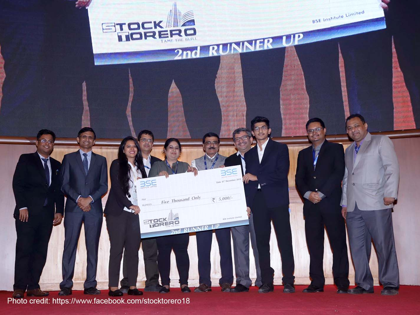 MBA students Ranked 2nd at BSE's STOCK TORERO