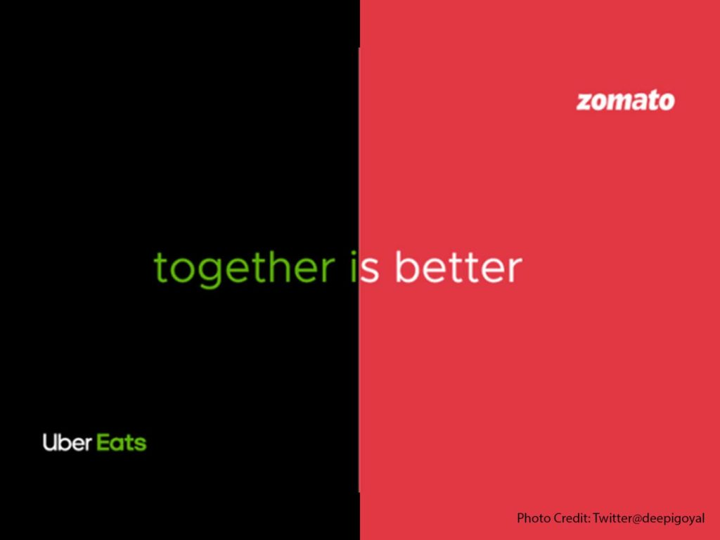 Zomato acquires Uber Eats