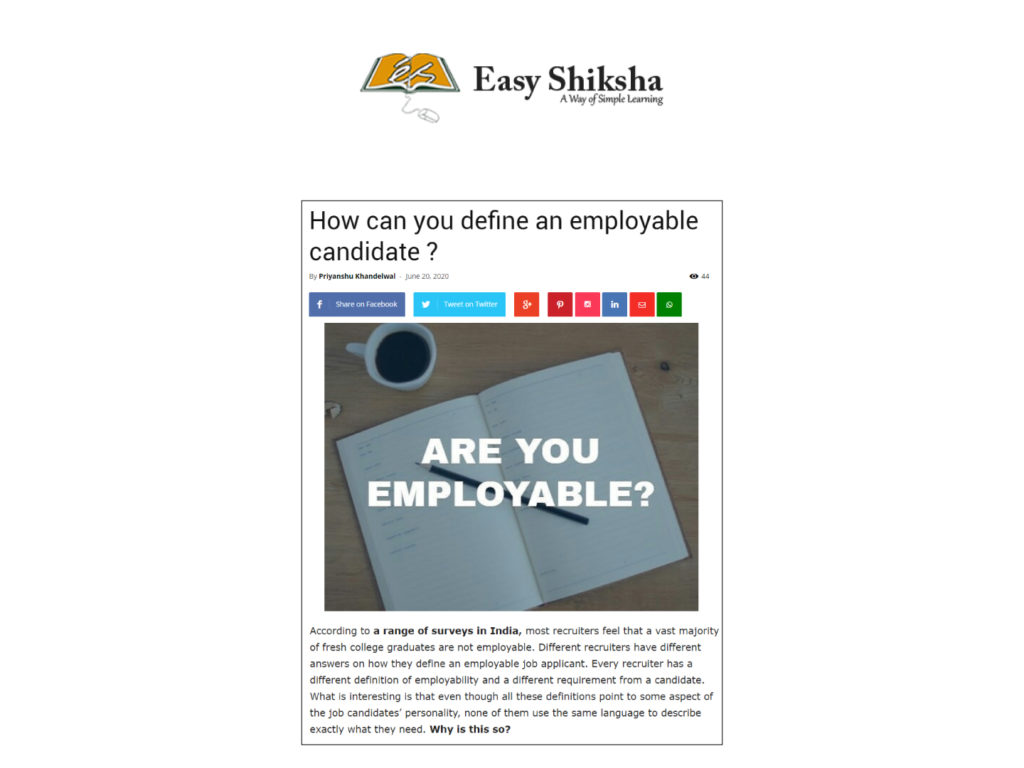 How can you define an employable candidate?