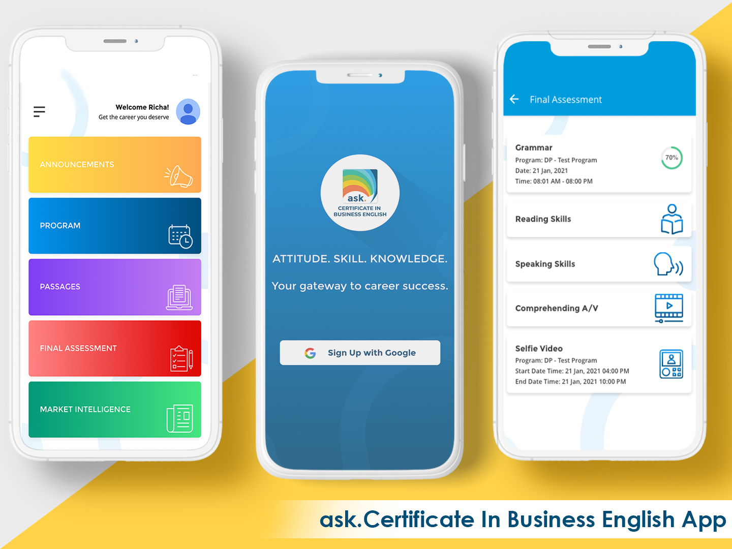 ask. Certificate in Business English